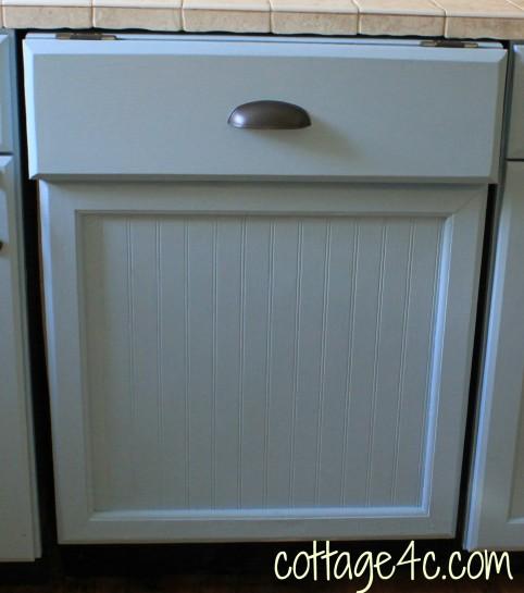 Painted Kitchen Dishwasher Panel